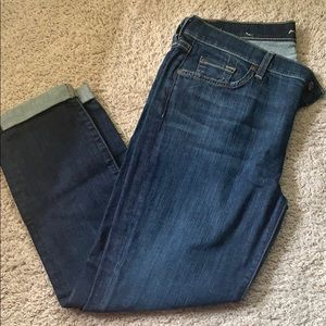 7 For all Mankind skinny crop size 32